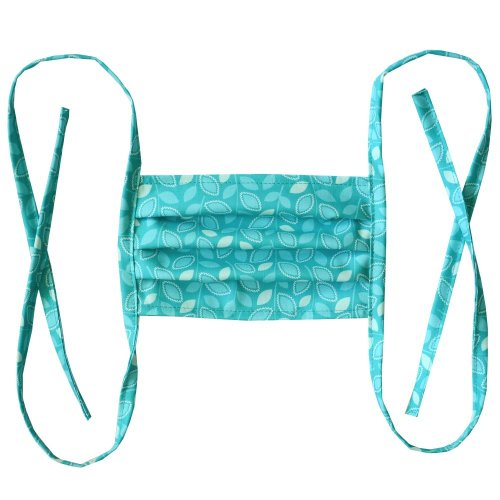Cotton double layer mask - Turquoise