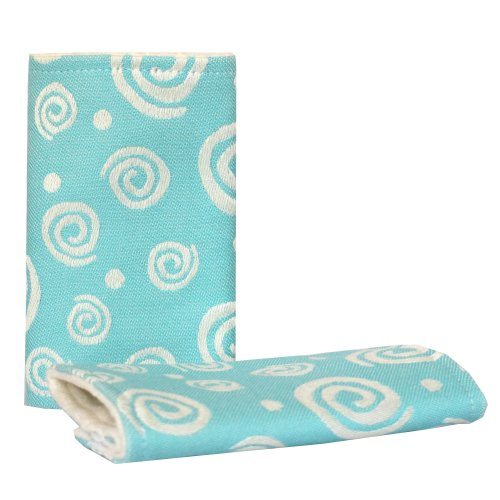 Teething drool pads Turquoise Spirals inverse