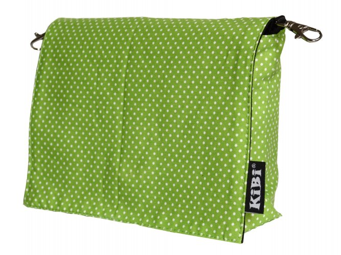 Pouch Green with dots