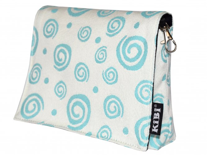 Pouch Turquoise Spirals